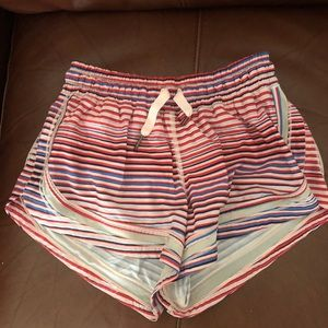 Lululemon hotty hot shorts striped